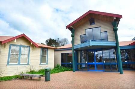 court proceedings: KAITAIA, NZL - AUG 18 2014:Kaitaia DistrictFamily Court building facade.It is the most northern District Court in new zealand