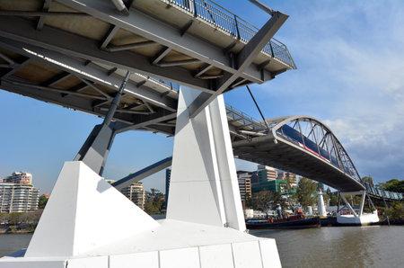 goodwill: BRISBANE, AUS - SEP 25 2014:The Goodwill Bridge in Brisbane Australia.Its a pedestrian and cyclist bridge which spans the Brisbane River in Brisbane, Australia.