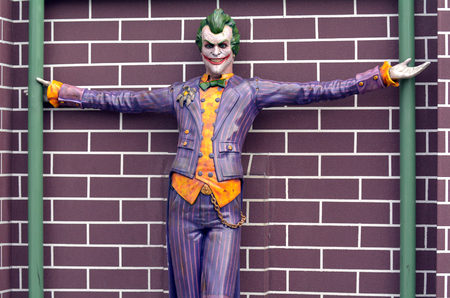 joker: GOLD COAST, AUS -  NOV 06 2014:The Joker in Movie World Gold Coast Australia.Its one of the most iconic characters in popular culture and the greatest comic book fictional villain ever created.