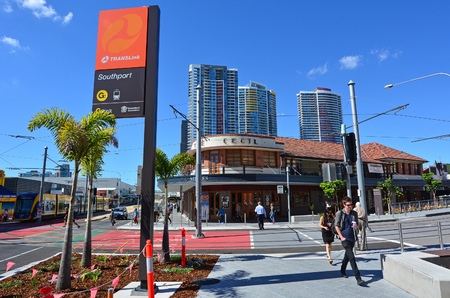 gold coast: GOLD COAST, AUS - OCT 17 2014:Southport CBD in Gold Coast Queensland, Australia. It has the largest area of office space at 103,818 m²  in Gold Coast Australia.