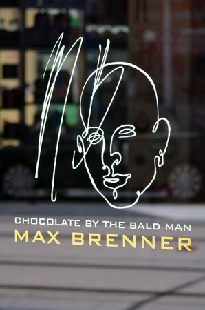internationally: GOLD COAST, AUS - NOV 09 2014:Max Brenner icon.The company operates more than 50 locations internationally, the majority (38) of which are in Australia.