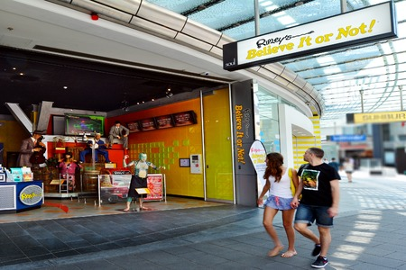 founded: SURFERS PARADISE, AUS - OCT 28 2014: Ripley's Believe It or Not!. Its a themed gallery founded by Robert Ripley, which show bizarre, strange and unusual people and items from around the world. Editorial