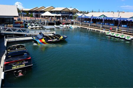 tourist destination: GOLD COAST - OCT 16 2014:Mariners Cove.Its a popular tourist destination for water sports and activities in Gold Coast Queensland Australia