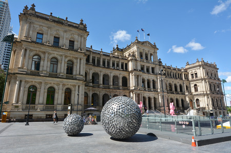 BRISBANE, AUS - SEP 26 2014:The Treasury Casino.The former Queensland Government Treasury Building is a heritage building. It is currently occupied by the Treasury Casino owned by Tabcorp.