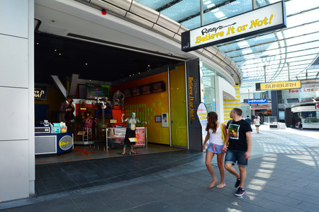 founded: SURFERS PARADISE, AUS - OCT 28 2014: Ripley's Believe It or Not!. Its a themed gallery founded by Robert Ripley, which show bizarre, strange and unusual people and items from around the world.