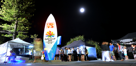 surfers: SURFERS PARADISE AUS - NOV 05 2014:Visitors in Surfers Paradise Beachfront Markets.Its the largest Night Market in Gold Coast Queensland, Australia.It feature a variety of local tourism products. Editorial