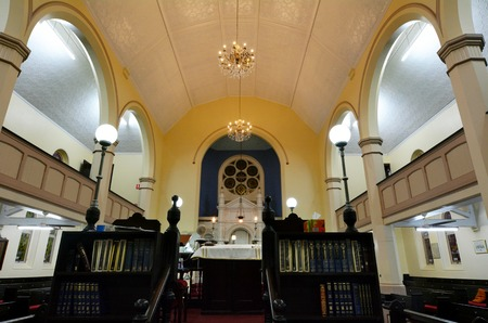 synagogue: BRISBANE, AUS - SEP 24 2014:Brisbane Synagogue interior. Brisbane Synagogue founded in 1886 and is the oldest in the state of Queensland, Australia.The synagogue has always operated primarily in English. Editorial