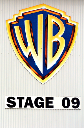 domestically: GOLD COAST, AUS -  NOV 06 2014:WB stage in Movie World Gold Coast Australia .In 2009, Warner Bros. became the first studio in history to gross more than $2 billion domestically in a single year. Editorial