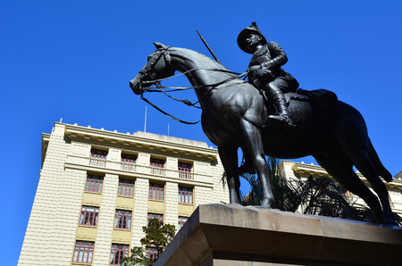 boer: BRISBANE, AUS - SEP 26 2014:The memorial to Queenslanders who fought during the Second Boer War18991902 in ANZAC Square in Brisbane, Queensland, Australia.