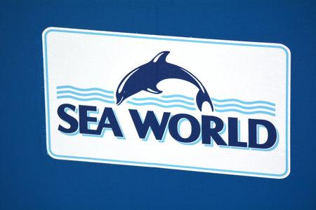 GOLD COAST, AUS -  NOV 06 2014:Sea World Gold Coast Australia icon.Sea World  marine mammal park, oceanarium, and theme park was founded by Keith Williams in 1958. Editorial