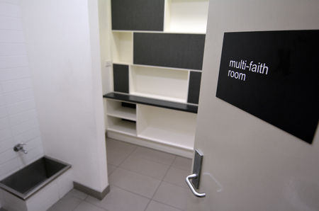 differing: GOLD COAST, AUS - NOV 22 2014:Multi faith room.Its a location where people of differing religious beliefs can exercise and enact their beliefs in places such as hospital, university and airports. Editorial