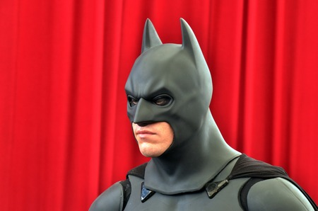 batman: GOLD COAST, AUS -  NOV 06 2014:Batman in Movie World Gold Coast Queensland Australia.In May 2011, Batman placed second on IGNs Top 100 Comic Book Heroes of All Time,after Superman.