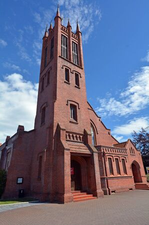 palmy: PALMERSTON NORTH, NZL - DEC 01 2014:All Saints Anglican Church.Its a New Zealand trust heritage building as it brickwork is among the finest in New Zealand. Editorial