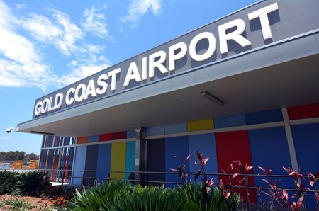 coast: GOLD COAST, AUS - NOV 22 2014:Passengers in Gold Coast International Airport.Gold Coast Airport is the one of the most busiest airport in Australia of passengers and aircraft movements.