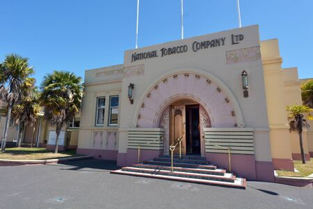 tobacco plants: NAPIER, NZL - DEC 03 2014:The National Tobacco Company Building in Napier.Napier was once home to one of New Zealands largest smoking tobacco plants.