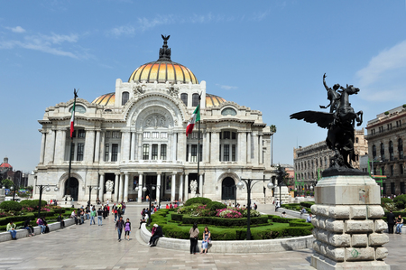 MEXICO CITY - FEBRUARY 28: The Fine Arts Palace Palacio de Bellas Artes on Febuary 28 2010 in Mexico City, Mexico.