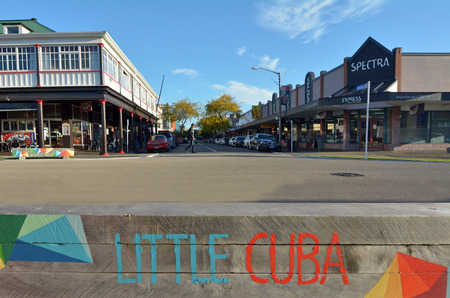 palmy: PALMERSTON NORTH, NZL - DEC 02 2014:Little Cuba.Its a popular cultural and dining center in Palmerston North.