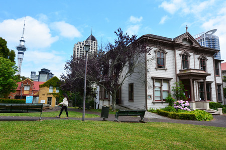 leases: AUCKLAND - JAN 09 2015:Victorian merchant house.Its one of five houses that should have come down when the 99-year leases expired, but survived to show the lifestyles of the colonial elite.