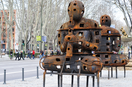 paseo: The Paseo del Prado is a beautiful tree-lined street in Madrid Spain.  The Prado district of Madrid features many beautiful fountains, museums, hotels and plazas.