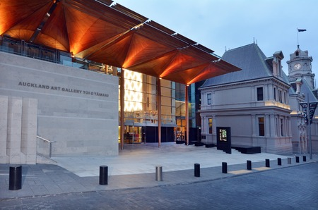 urban art: AUCKLAND, NZL - DEC 16 2014: Auckland Art Gallery Toi o Tamaki.Its the principal public gallery in Auckland that has the most extensive collection of national and international art in New Zealand.
