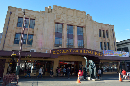 palmy: PALMERSTON NORTH, NZL - DEC 02 2014:Regent On Broadway theater.Its one of New Zealands most busiest venues ranking among the top four performing arts centers in New Zealand.