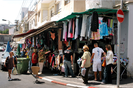 bargains: TEL AVIV - MAY 25:Bezalel Market on May 25 2006.  Its a famous little clothes and home appliances market, of leftovers of famous brands that sellers are stuck with and where bargains can be found. Editorial