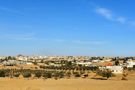 deported: BEERSHEBA, ISR - NOV 26:Bedouin community near Beersheba on Nov 26 2008.Between 1968 and 1989 the state established urban townships for housing of deported Bedouin tribes in the Negev Desert, Israel.