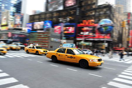 Traffic on Time Square in Manhattan New York, USA. Editorial