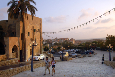 mideast: JAFFA, ISR - OCT 07:Visitors in Jaffa on Oct 07 2007.In April 1949, Tel Aviv and Jaffa were united in the single municipality of Tel Aviv-Yafo