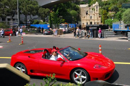 Monaco May 07luxury Cars Outside Hotel De Paris 5 Star Luxury