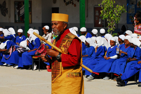 african ancestry: DIMONA, ISR - NOV 06:Black Hebrews on Nov 3 2008.Its a small spiritual group of 5000 members whose believe they are descended from the Ten Lost Tribes of Israel.