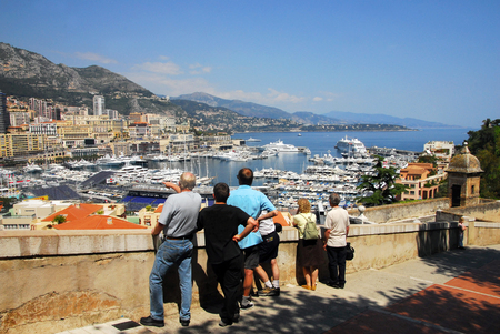 french ethnicity: MONACO - MAY 07:Visitors looks at the view of Monaco on May 07 2008. Monaco, is one of the richest countries in the world and the worlds most densely populated urban center. Editorial