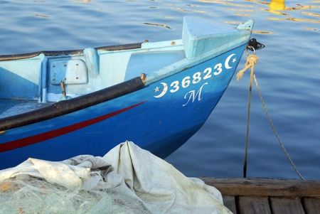 bce: ACRE, ISR - OCT 07:Fishing boat in Acre port on OCT 07 2007. Its one of the oldest continuously inhabited cities in the world, dating back to the time of the Pharaoh Thutmose III 1504-1450 BCE. Editorial