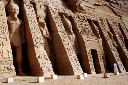 RELOCATED: ABU SIMBLE - APRIL 29:The Great Temple of Abu Simbel on the border of Egypt and Sudan on April 29 2007.The temples were dismantled and relocated in 1968 when Aswan dam was built. Editorial