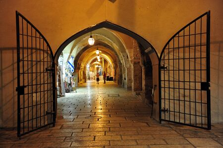 enclave: The cardo at the Jewish Quarter in Jerusalem, Israel. Editorial