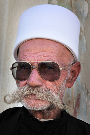 monotheism: MAJDAL SHAMS - AUGUST 23:A Druze man from Majdal Shams,Israel on August 23 2009.The number of Druze people worldwide exceeds one million, with the vast majority residing in the Middle East. Editorial