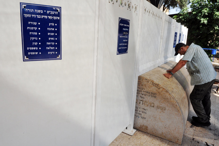mishnah: TEBERIAS - JUNE 16:Jewish man prays at Maimonides tomb on June 16 2009 in Tiberias, Israel. Maimonides tomb has become one of the most important Jewish pilgrimage sites in Israel.