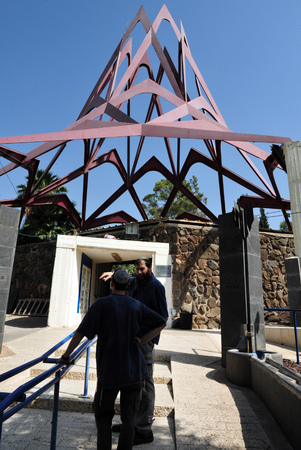 healers: TEBERIAS - JUNE 16: The entrance of Maimonides tomb on June 16 2009 in Tiberias, Israel. Maimonides tomb has become one of the most important Jewish pilgrimage sites in Israel.