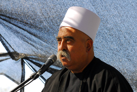 MAJDAL SHAMS - AUGUST 23:A Druze man from Majdal Shams,Israel on August 23 2009.The number of Druze people worldwide exceeds one million, with the vast majority residing in the Middle East. Editorial
