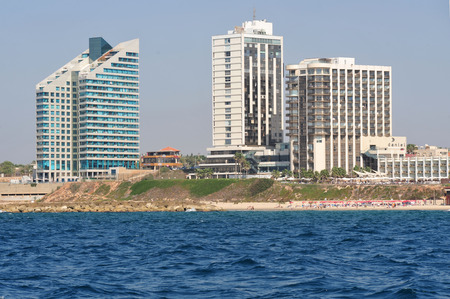 ambassadors: HERZLIYA,ISR- OCT 06:Hotels along Herzliya Pituah skyline on Oct 06 2009.Its one of Israels most affluent districts and home to ambassadors, foreign diplomats and businessmen.