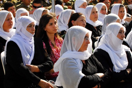 monotheism: MAJDAL SHAMS - SEPTEMBER 03: Druze women from Majdal Shams,Israel on September 03 2009.The number of Druze people worldwide exceeds one million, with the vast majority residing in the Middle East. Editorial