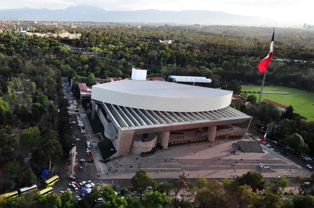 venue: MEXICO CITY - FEB 24 2010:Aerial view of the Auditorium of Mexico City, Mexico.In May 2007, the American magazine Pollstar ranked the National Auditorium as the best concert venue in the world.