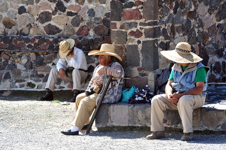 TEOTIHUCAN - FEB 26: Mexican people having a siesta in Teotihuacan on february 26 2010 in Teotihuacan,  Mexico.Its a short nap taken in the early afternoon, often after the midday meal