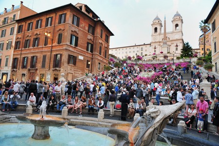 spanish steps: The Spanish Steps, Rome Italy. Editorial