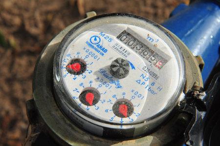 ashdod: ASHDOD - DECEMBER 21: Water Meter Clock shows a local water consumption on December 21 2010 in Ashdod, Israel.
