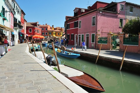 colourfully: Colourfully painted houses on Burano island in the Venetian Lagoon, northern Italy.