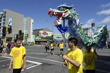 year of snake: WELLINGTON - FEB 24:Chinese people celebrate the Year of the lunar snake on February 24 2013 Wellington,NZ.The Chinese Spring Festival is the most important traditional Chinese holidays. Editorial