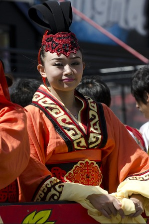 year of snake: WELLINGTON - FEB 24:A Chinese woman celebrate the Year of the lunar snake on February 24 2013 Wellington,NZ.The Chinese Spring Festival is the most important traditional Chinese holidays.