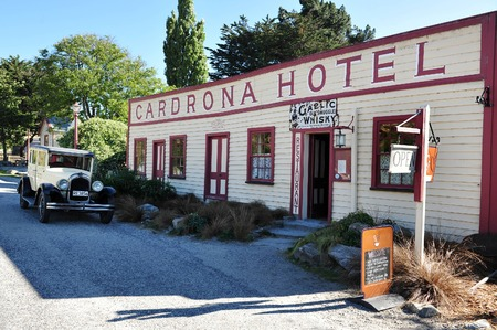 nz: WANAKA, NZ - MAR 02:Cadrona Hotel on Mar 02 2009 near Wanaka, NZ.Its New Zealands oldest pub and one of the last remaining occupied buildings of the Central Otago gold rush days. Editorial