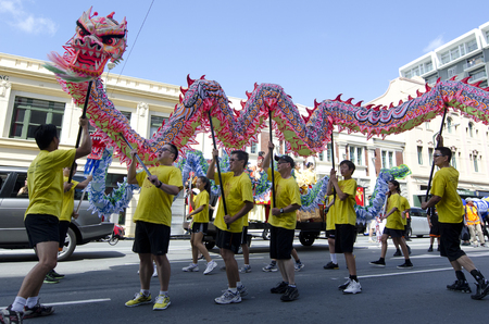 year of the snake: WELLINGTON - FEB 24:Chinese people celebrate the Year of the lunar snake on February 24 2013 Wellington,NZ.The Chinese Spring Festival is the most important traditional Chinese holidays. Editorial